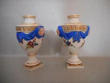 Paire de petits vases en porcelaine de Meissen.XVIII°.