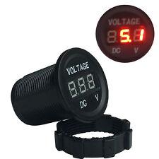 12V 24V DC Waterproof Car Motorcycle Boat Red LED Digital Display Voltmeter Volt