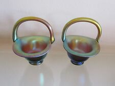Wmf Myra Handcrafted Glass Baskets =2=(Pair)=!Beautiful!=Ger many=Karl Wiedmann
