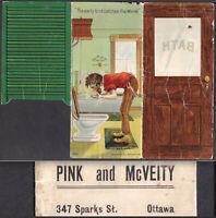 Sparks Street Ottawa Antique Canada Musk Ox Bear Skin Fur Metamorphic Trade Card
