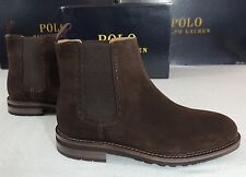 $395 Polo Ralph Lauren Adley Dark Brown Suede Leather Pull Up Boots Shoes 7 D 6