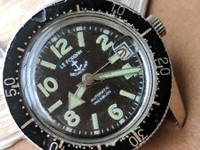 Vintage Le Forban Securite-Mer 20 ATM Divers Watch w/Pristine Dial,ETA 2783 Mvmt