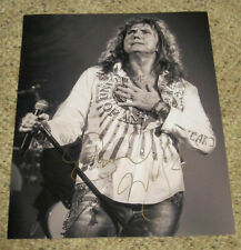 David Coverdale - Signed 11x14 black & white inch concert photo.