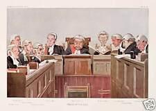 Heads of Law Lawyers Judges Vanity Fair litho art print SKU2285
