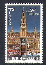 Austria 1998 Europa/Vienna/Buildings/Architecture/Clock/Tower/Festival 1v n37645