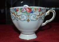 Royal Tuscan England Gold Chintz Bone China  Tea Cup white with Roses
