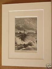 GREAT YARMOUTH JETTY ANTIQUE MOUNTED ENGRAVING c1890
