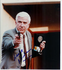 LESLIE NIELSEN SIGNED NAKED GUN 8X10 PHOTO COA PROOF!