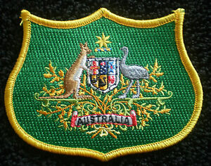 NEW AUSTRALIA CREST COAT OF ARMS AUSSIE IRON ON PATCH BADGE 10x8cm EMBROIDERED
