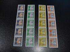 Hong Kong 1996 Yang#R41A QEII Coil Stamp Strip of 5 4v MNH