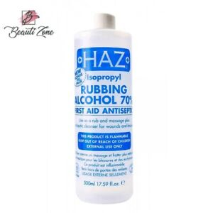 Haz Rubbing Alcohol 70% Antiseptic Disinfectant First Aid 500ML