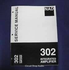 Original NAD 302 Integrated Amplifier Service Manual