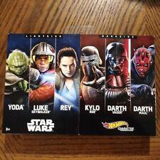 Light Side vs. Dark Side Box Set of 6 Cars - Star Wars Character Cars - Hot Whee