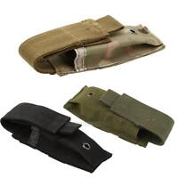 Military Tactical Single Pistol Magazine Utility Pouch Knife Flashlight Sheath
