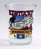 KENTUCKY  STATE ELEMENTS MAP SHOT GLASS SHOTGLASS