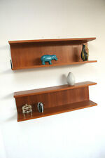 1/4 50er 60er Mid Century Shelves Teak Regal Wandregal  Wirz RENZ ÄRA