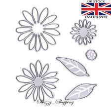 6 piece Chrysanthemum Daisy Flower Die Set metal cutting die cutter UK Fast Post