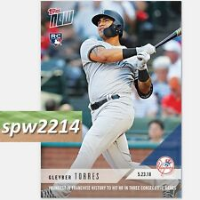 2018 Topps Now Gleyber Torres #242 Youngest Yankee HR in 3 Consecutive Games