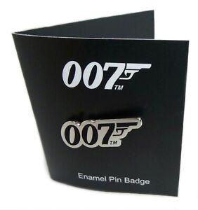 Official James Bond 007 Iconic 007 Gun Logo Enamel Metal Pin Badge NEW Gift