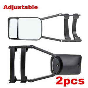 2pcs Clip-on Truck SUV Van RV Trailer Towing Side Mirrors Extension Extender