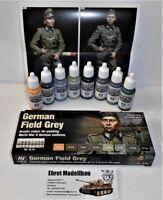 WWII german Field Grey deutsche Uniform Feldgrau  8 Farben Vallejo Model 70181