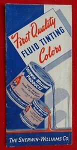 Sherwin-Williams circa 1940's Fluid Tinting Paint Colors Booklet