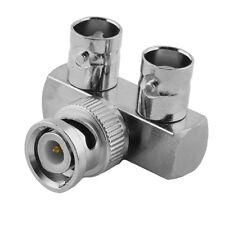 BNC L Adapter Verteiler Splitter Stecker 1 auf 2 Buchse Kupplung weiblich IN OUT