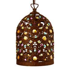 Searchlight 5811BZ Moroccan Antique Bronze Pendant Light Multi-Coloured Acrylic