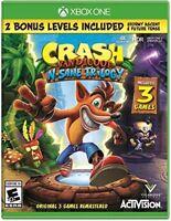 Crash Bandicoot N Sane Trilogy XBOX ONE NEW! 3 GAMES! 1,2, WARPED 2 BONUS LEVELS