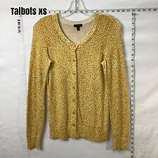 Talbots cotton-angora Hair animal print cardigan size Xs