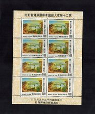 China ROC Taiwan 1974 Army Soldiers Block of 8 stamps MNH   A
