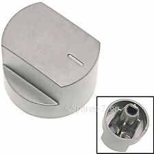 Silver Knob Switch for STOVES 61EDO 61EHDO BL ST WH Oven Cooker Hob Spare Part