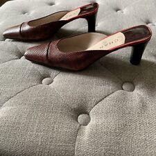 Chanel Red Snakeskin Mules / Heels 38.5