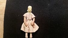 "Miniature  Antique  Clay Doll / About 3"" Tall / Folk Artsy / No Makers Mark"