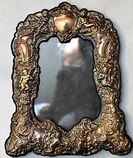 Antique  Angels Cherubs Sterling Silver Picture/Photo Frame Signed JR