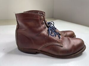 Wolverine 1000 Mile Boots Brown Leather W05299 Mens 10 D
