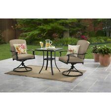 Patio Furniture Bistro Table Chairs Set 3 Piece Front Porch Garden Rocker Swivel