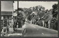 Postcard Bramber nr Steyning Sussex shop in High Street vintage RP