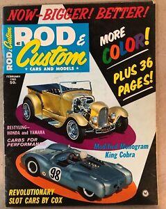 VINTAGE FEBRUARY 1965 CARS AND MODELS ROD & CUSTOM VOL. 12 NO. 11 MAGAZINE