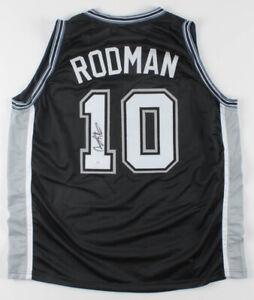 Dennis Rodman Signed San Antonio Spurs Jersey (JSA COA) 5xNBA Champion / Forward