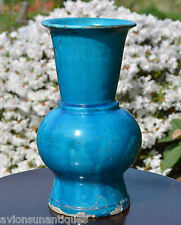 34cm Turquoise Glaze Zun Vase Song Yuan or Ming Dynasty Chinese