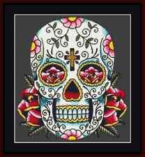 Day Of The Dead Skull Cross Stitch Kit
