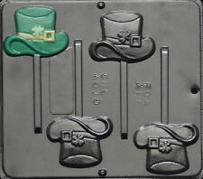 NEW St Pattys Day HAT with SHAMROCK Chocolate Candy Fondant Plaster Lolly Mold