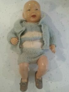 ANTIQUE BOY DOLL stamped  FRANCE 30 CELLOLOID   UNUSUAL 12  INCH