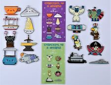 Disney Kingdom Of Cute Mystery Box Collection Series 1 & 2 Complete 16 Pin Set