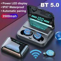 Waterproof Bluetooth 5.0 Earbuds Headphone Wireless TWS Headset Noise Cancelling