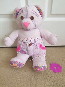 """1994 Doodle Bear Vintage 12"""" Pink"""