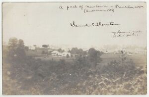 1907 Princeton, West Virginia - REAL PHOTO Town Overview, Old Postcard