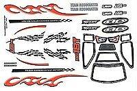 Team Associated RC18T Body Decal & Window Mask, Color AS21069