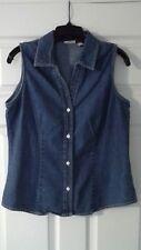 St Johns Bay Womens Blue Jean Vest Size Medium